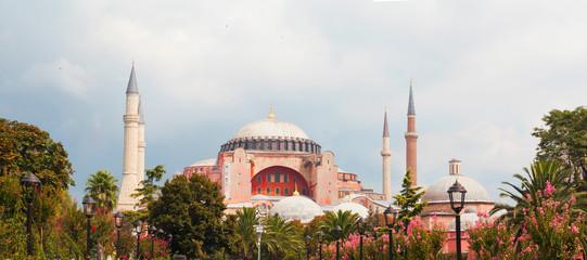 hagia sophia mosque exterior in istanbul turkey