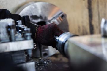 Obsolete Industry Machine working in factory