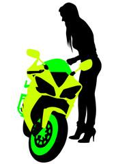 Fototapete - Beauty biker