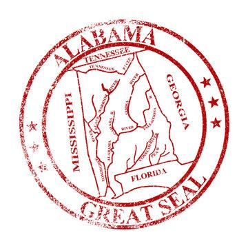 Alabama State Seal Stamp