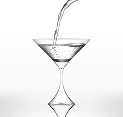 Vector water flows in martini glass