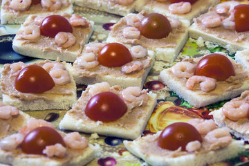 Antipasto Gamberetti e pomodorini