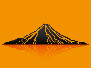 Vector illustration. Volcano.