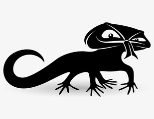 Vector sign. Lizard.
