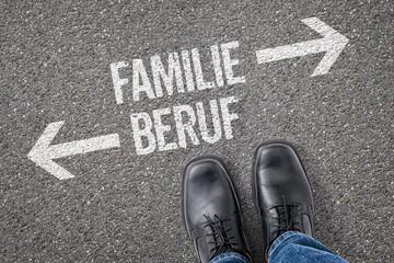 Entscheidung an der Kreuzung - Familie oder Beruf