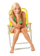 Swimsuit: Pretty Woman Looks to Camera