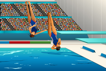 Diving competition