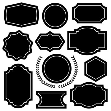 Vector badges, emblems and insignias shapes set
