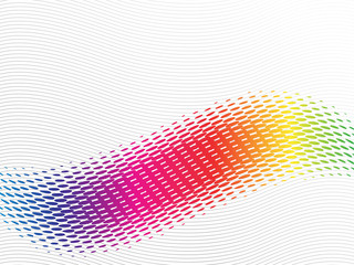 Abstract rainbow wave with halftone