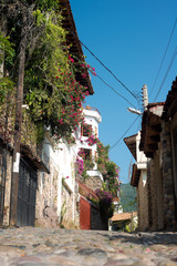 Cobblestone street. Puerto Vallarta