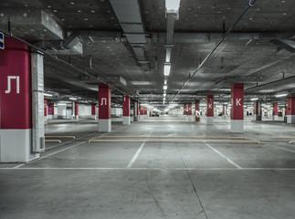Empty parking garage