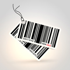 Vector stickers - bar code theme..
