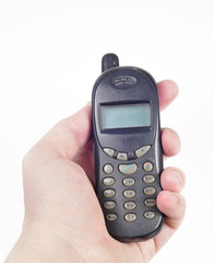 old phone in hand