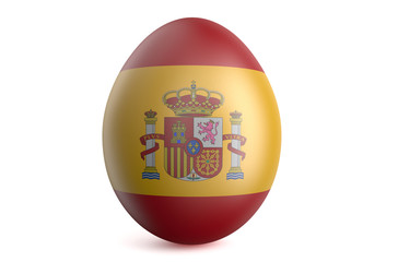 Easter egg with the flag of the Spain
