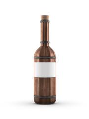 barrel wooden wine bottle