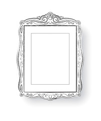 Line art. Vintage baroque frame.