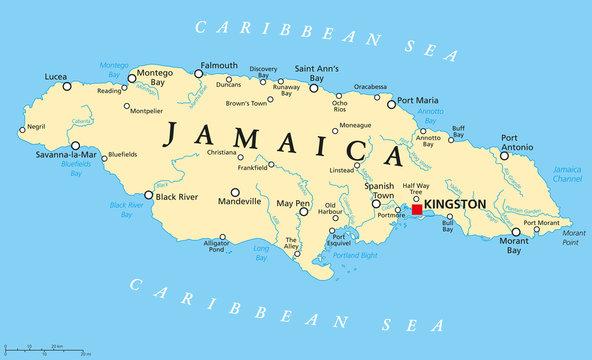 Jamaica Political Map
