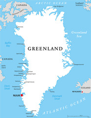 Greenland Political Map