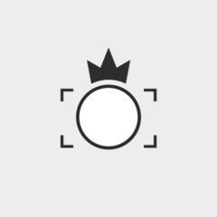 Logo Photos, viewfinder crown logo vector set. Trendy flat camer