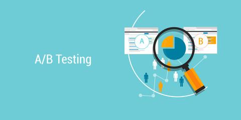 AB testing A?B split comparison web conversion test