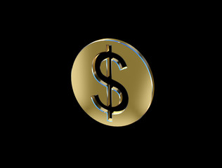 image of a dollar sign in the form of coins
