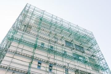 建築現場の足場 Footing of the apartment construction