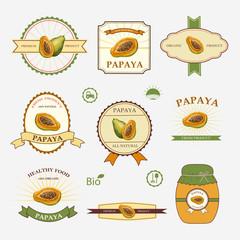 Papaya, set of label design