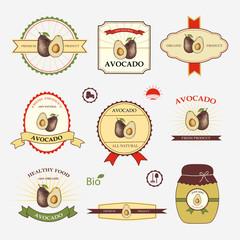 Avocado, set of label design