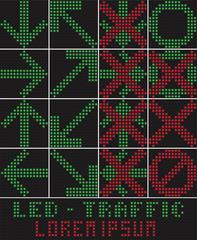 traffic light LED. Vector Illustration