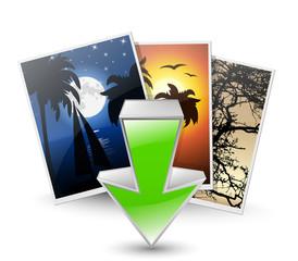 Download photos icon. Vector illustration