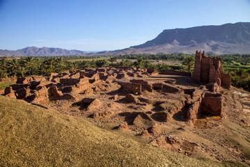disintegrate large fortification old Kasba, Morocco