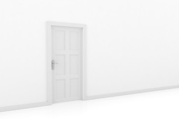 3d rendering of a door