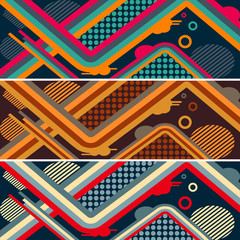 set of abstract futuristic pattern for skateboard