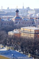St. Petersburg from bird's-eye view