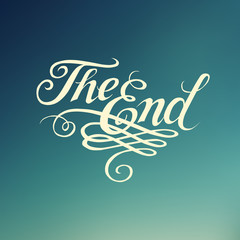 """Beautiful movie ending typography """"The End"""""""