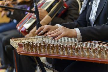 Arabian Qanon Musical Instrument Playing