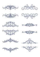 Set of 6 vector vintage text frames - dividers