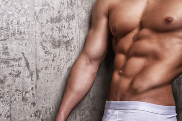 Muscular body of young guy