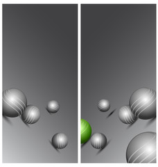 Abstract technology background with balls