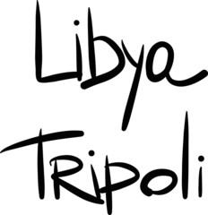 Libya, Tripoli, hand-lettered