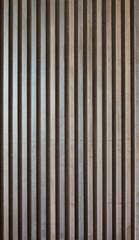 Wood lath wall