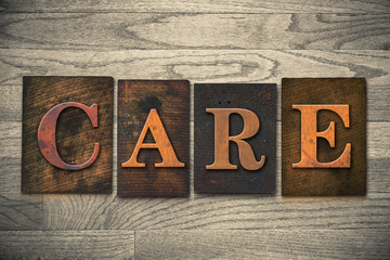 Care Wooden Letterpress Theme