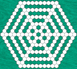 Hexagonal crossword