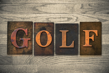 Golf Wooden Letterpress Theme