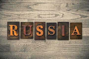 Russia Wooden Letterpress Theme