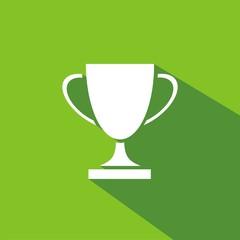 Icono trofeo copa verde sombra