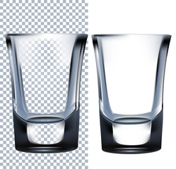 Shot glass. Isolated On White Background.