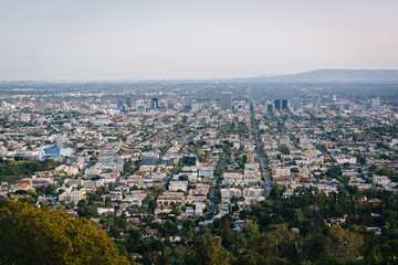 View of Los Angeles from Griffith Observatory, in Los Angeles, C