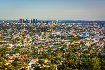 View of the downtown Los Angeles Skyline, from Griffith Observat
