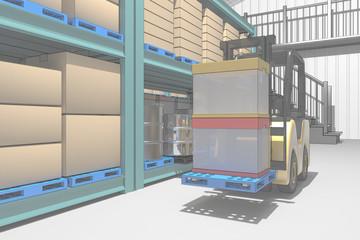 倉庫の内部